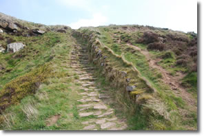 steps to the top of Highcliff Nab