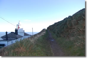 path behind lighthouse