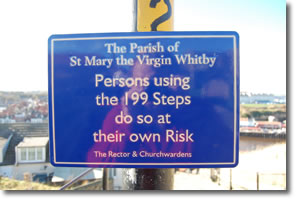 St Mary the Virgin Whitby safety steps