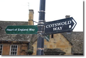 first Cotswold Way sign