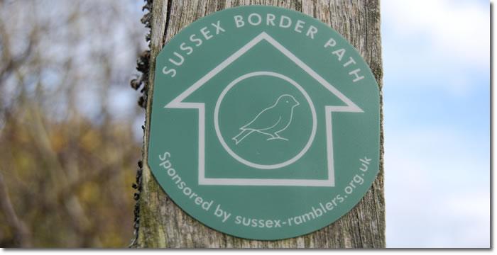Sussex Border Path way sign