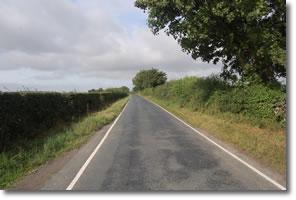 lane leaving Copmanthorpe