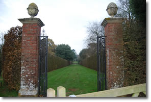 restricted view into Hidcote Manor