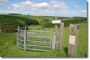 swing gate above West Dale
