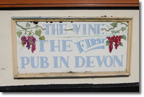 The Vine the First Pub in Devon