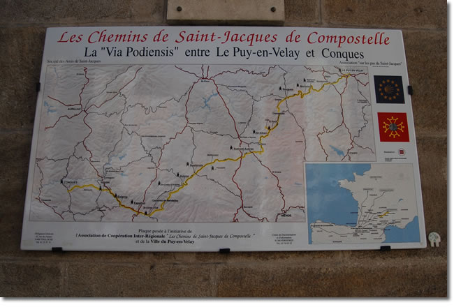 wall mounted map of the route ahead