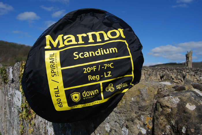 Marmot Scanium sleeping bag details
